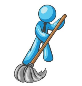 cleaning wordpress site